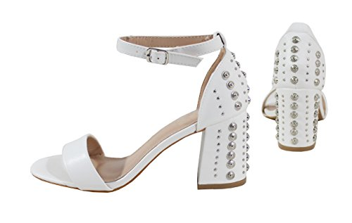 White Sandalias by Shoes para Mujer nxw787q1gP