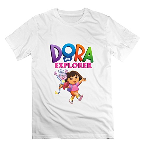 [Seico Men's Dora The Explorer Boots T-shirts White Size L] (Boots And Swiper Costumes)