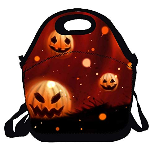Lunch Bag Lunchboxes Outdoor Lunch Box Bag Pumpkin Halloween Wallpapers Lunch Tote Handbag Convenience for Out