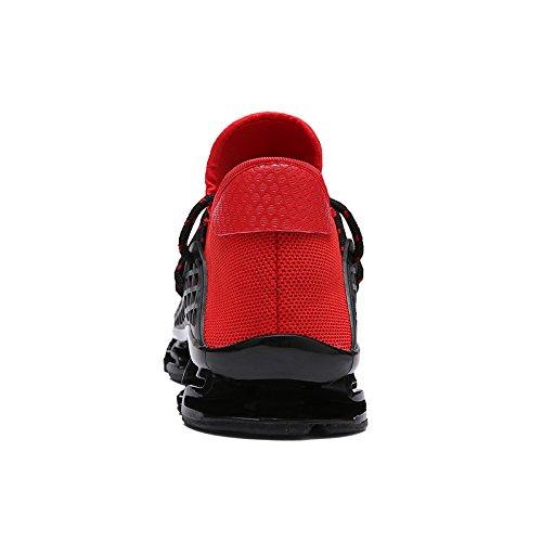 Atmungsaktiv Turnschuhe Herren Sportschuhe Air Trainer Outdoorschuhe Laufschuhe Ufatansy Damen Sneaker red D Leichtes Freizeitschuhe UXYqnUx