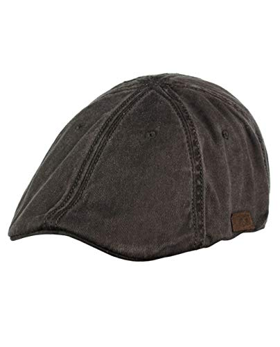 (NYFASHION101 Fashionable Solid Color Unisex Cotton Duck Bill Newsboy Ivy Cap, Washed Brown)