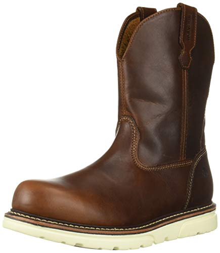 Wolverine Men's I-90 DuraShocks Wedge Wellington Industrial Boot, Brown 10 Medium ()