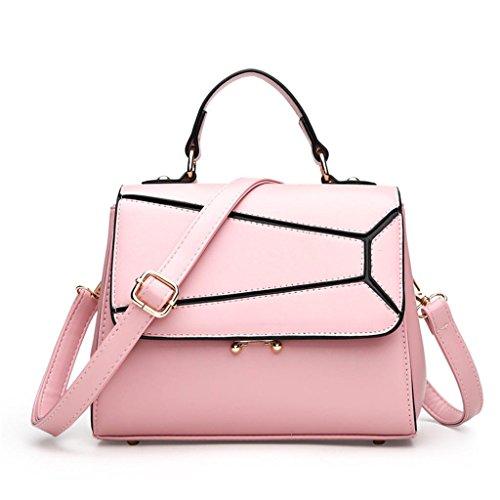 pink Mode Shopping Dame Multiple Travail Bag SHOUTIBAO Sac bandoulière à Grande à Main Sac Compartiment Unique capacité Messenger TIFfq4