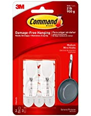 Command Wire Toggle Hook, Medium, White
