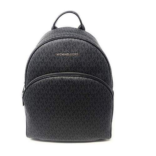 MICHAEL Michael Kors Abbey Jet Set Large Leather Backpack (Black PVC 2019) (Michael Kors Flache)