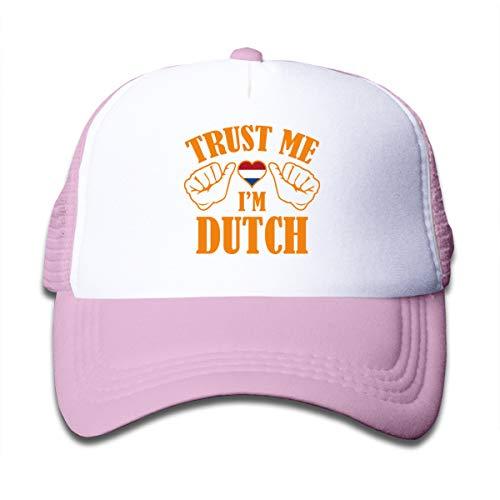 Aiw Wfdnn Trust Me I'm Dutch Mesh Baseball Cap Girl's Adjustable