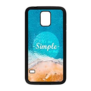 Samsung Galaxy S5 Cell Phone Case Black As Simple As That F6G7GN