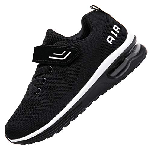 JARLIF Kids Athletic Tennis Running Shoes Breathable Sport Air Gym Jogging Sneakers for Boys & Girls (5 M US Big Kid,Blackwhite)