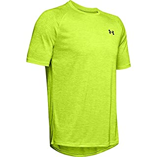 Under Armour Men's Tech 2.0 Short Sleeve T-Shirt , Green Citrine (394)/Black , XX-Large