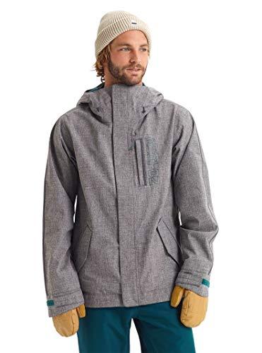 Burton Men's Men's Gore-tex Doppler Jacket, Bog Heather/Denim, Large (Snowboard Jackets Men Burton)
