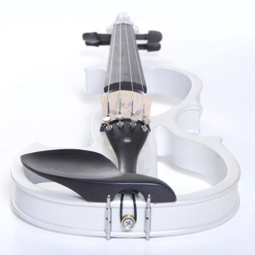 Cecilio 4/4 CEVN-2W Solid Wood Pearl White Electric / Silent Violin with Ebony Fittings in Style 2 (Full Size) by Cecilio (Image #6)