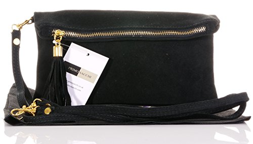 Italian Suede Leather Clutch, Wrist or shoulder Bag. Includes a Protective Storage Bag.