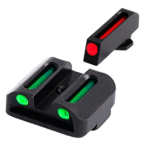 TRUGLO Fiber-Optic Front and Rear Handgun Sights for Glock Pistols, Glock 20, 21, 25, 29, 30, 31, 32, 37, 40, and 41