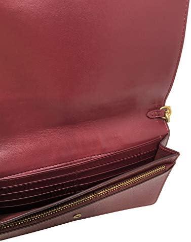 Coach Pochette pliable Hayden, bandoulière réglable, cuir, bordeaux, L 20 cm x H 12 cm x P 4