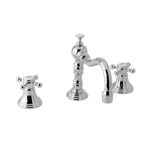 (Jado 853/238/100 Victorian Widespread Lavatory Faucet, Cross Handles, Polished Chrome)
