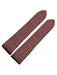 23mm Brown Grain Leather Strap Watch Band Fits CARTIER SANTOS 100 XL non Chronograph