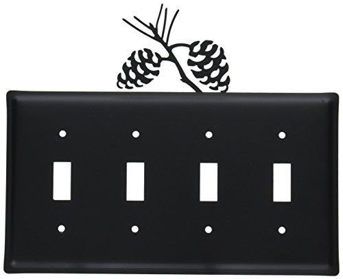 8.25 Inch Pinecone Quadruple Switch Cover ()