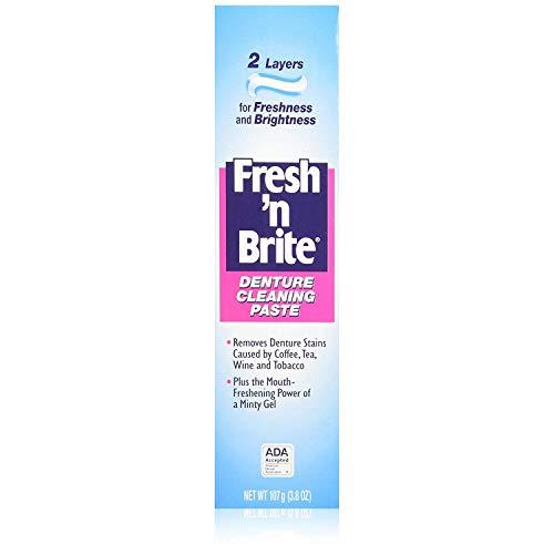 Fresh 'N Brite Denture Cleaning Paste 3.80 oz (Pack of 5)