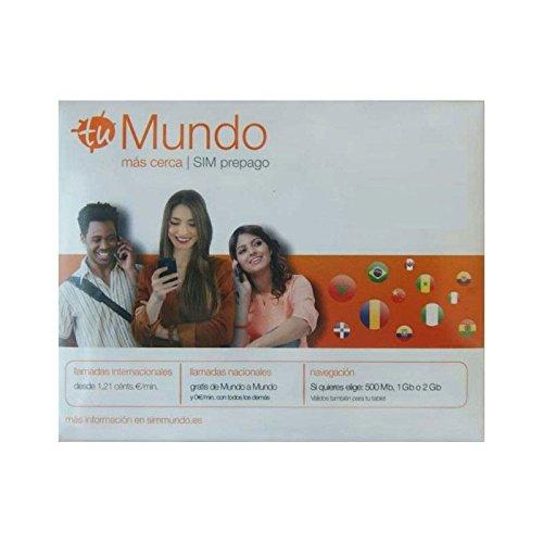 Tarjeta SIM prepago Mundo Orange: Amazon.es: Electrónica