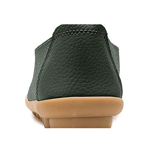 Blivener Kvinna Tillfälliga Loafers Ihåliga Platta Skor Kör Skor 02green