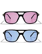 VANLINKER Retro Vintage 70s sunglasses for women men with UV Protection VL9611