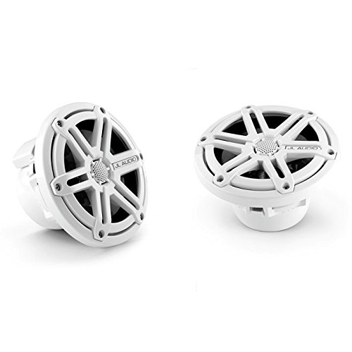 Coaxial Speakers System - JL Audio M650-CCX-SG-WH 6.5-inch (165 mm) Cockpit Coaxial Speaker System, White Sport Grilles