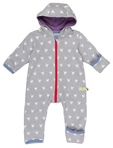loud + proud Unisex Baby Schneeanzug Overall Woll-Anteil, Grau (Grey Gr), 56 (Herstellergröße: 50/56)