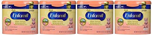 Enfamil A.R. for Spit-Up Baby Formula - Powder - 21.5 oz - 4 pk (Pack 4 Infant Of Formula Enfamil)