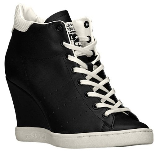 adidas Stan Smith Up Women's Sneakers Size US 8, Regular Width, Color Black/Cream (Stan Smith Sleek)