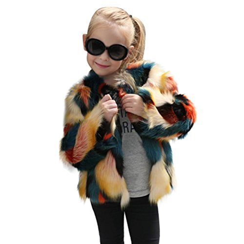 Fabal Kid Baby Girl Autumn Winter Faux Fur Waistcoat Thick Coat Warm Outwear Clothes