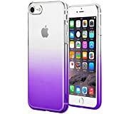 wantflyer iPhone 6 Case,iPhone 6s Case, Colorful Clear Flexible Soft TPU Cover for Apple iPhone 6/6s(Gradient Purple)