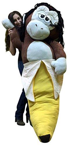 Big Plush Giant 6 Foot Stuffed Banana Monkey Pillow Huge