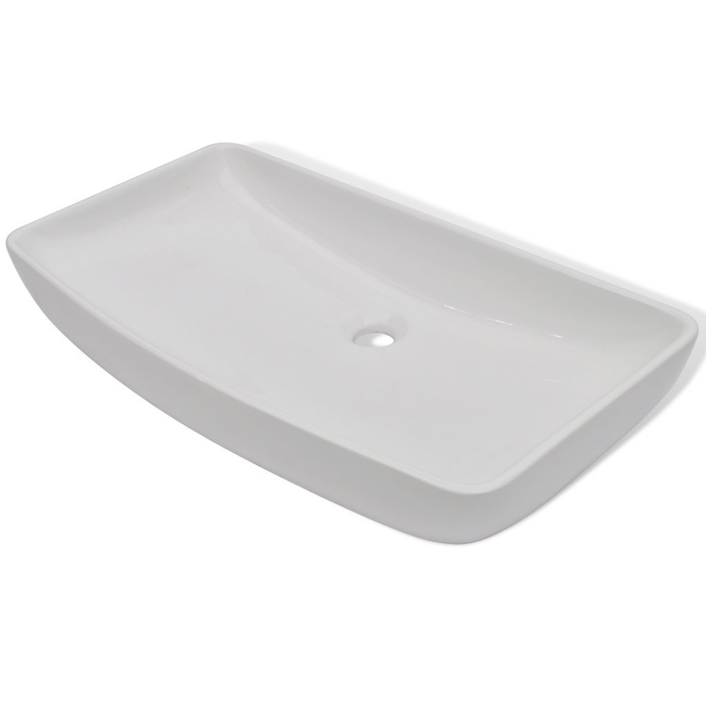 Daonanba Durable Stylish Luxury Premium Ceramic Basin Rectangular Sink White 28'' x 15''