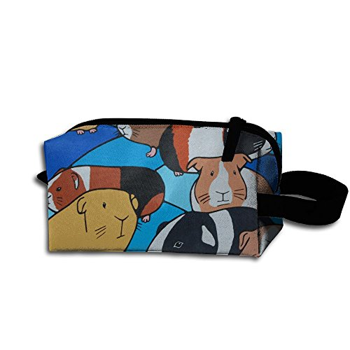 Create Magic Painting Of Guinea Pigs Purse Or Coin Purse Pouch Waterproof Multi-purpose Storage Tote Tools Bag Cosmetic Bags With Zipper And Hanging Loop (Measure Tape Pig)