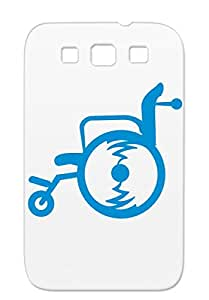 Wheelchair 1c Navy Skid-proof Handicab Miscellaneous Disability Symbols Shapes Case For Sumsang Galaxy S3