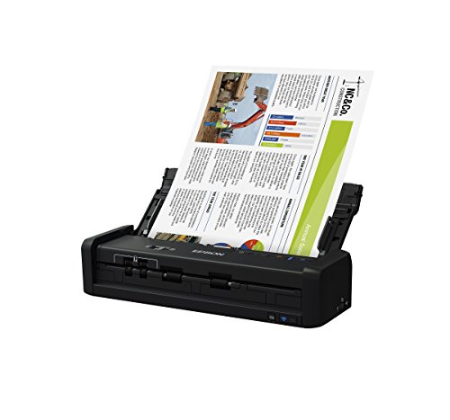 Epson WorkForce ES-300W Wireless Color Portable Document Scanner with ADF for PC and Mac, Sheet-fed and Duplex Scanning by Epson (Image #1)