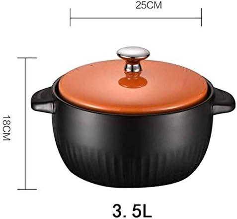 WCY Casserole - Soupe épaisse marmite à Soupe avec Couvercle en céramique 3.5L Casserole yqaae
