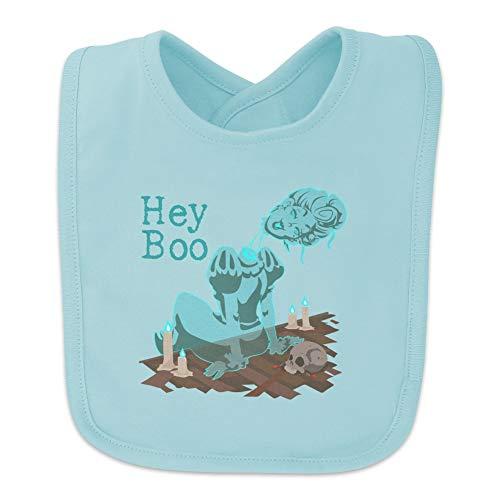 Hey Boo Victorian Headless Ghost Woman Baby Bib - Blue