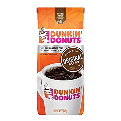 Dunkin' Donuts Original Blend Medium Roast Ground Coffee, 12 Ounces by Folgers