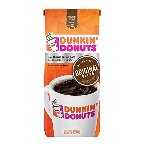 Dunkin' Donuts Original Blend Medium Roast Ground Coffee, 12 Ounces (New England Pumpkin Spice)