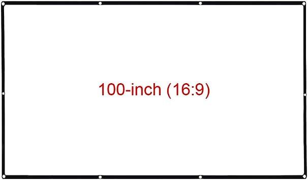 Docooler Pantalla de Libro de proyector de 18.3 Pulgadas Pantalla ...