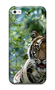WilliamBDavis Perfect Tpu Case For Iphone 5c/ Anti-scratch Protector Case (tiger In The Woods)