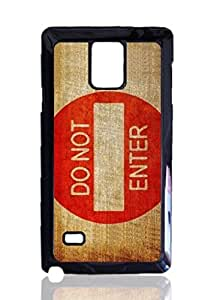 Do Not Enter Custom Hard Plastic back Phones Case for Samsung Galaxy Note4 - Galaxy Note 4 Case Cover