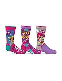 Shimmer & Shine Girl's 3-Pack Crew Socks