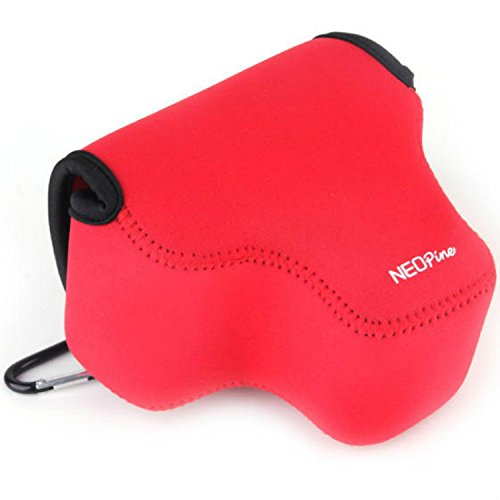 First2savvv QSL-P600-08 red Neoprene Camera Case Bag for Nikon COOLPIX P600 P610