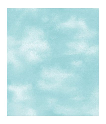 York Wallcoverings PX8975 Color Expressions Kid Cloud Wallpaper, Dark Blue Sky (Border Wallpaper Cloud)