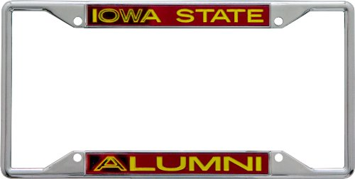 Iowa State Chrome Metal (NCAA Iowa State Cyclones License Plate Frame Alumni)