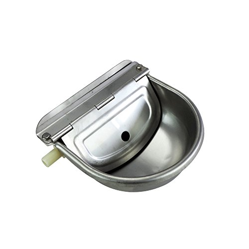 Stainless Steel Automatic Waterer Bowl Horse Cattle Goat Sheep Pig Dog Float Valve Water Trough Farm Supplies Livestocktool by livestocktool.com (Image #1)