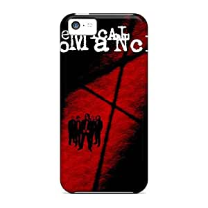 Shock Absorbent Cell-phone Hard Covers For Iphone 5c With Provide Private Custom Colorful My Chemical Romance Band Image SherriFakhry