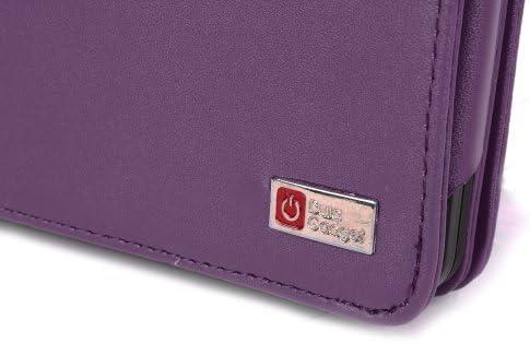 DURAGADGET Housse Etui Violet de Luxe en Cuir V/éritable style livre pour le Nouveau Lecteur de Livre Electronique  Kindle TOUCH WIFI /& 3G derni/ère // nouvelle g/én/ération, 2012 affichage E-Ink /écran tactile 6 Charge
